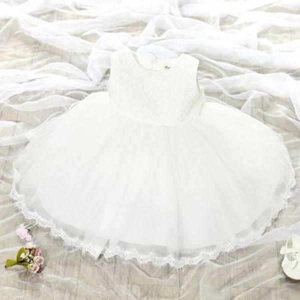 Summer Princess Flower Girl Dress Ricamo Floral Wedding Birthday Party Abiti per bambini per ragazze Costume per bambini