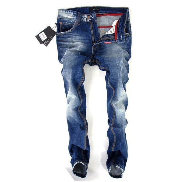New Product Beggar Pants Male Korean Edition Elastic Force Slim Thin And Trend Hole Jeans Small Feet
