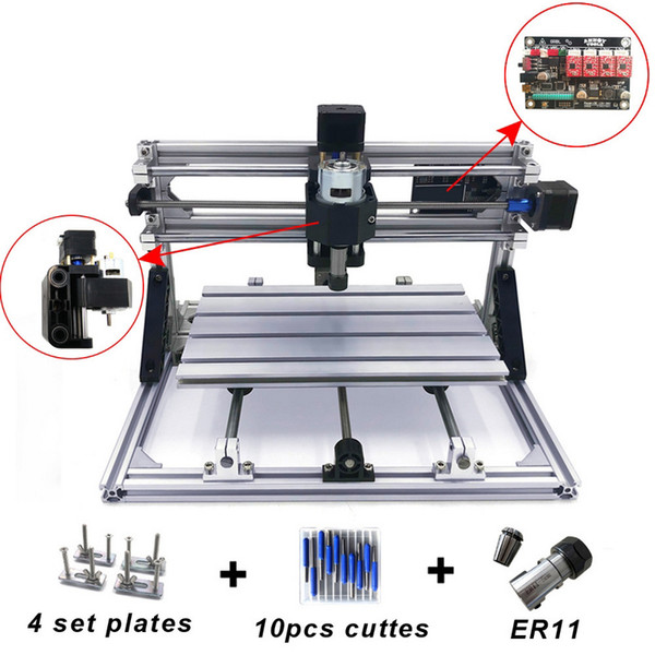 best selling Mini CNC Engraving Machine with ER11 Wood Router Grinder PCB Milling Machine PVC Wood Carving DIY CNC Windows
