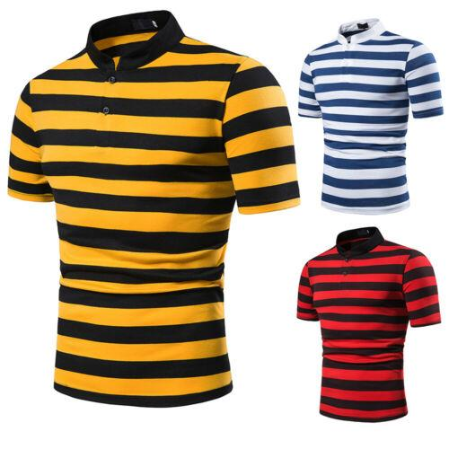 Camisa de hombre 2019 Nuevas camisas de manga corta para hombre Camiseta casual a rayas