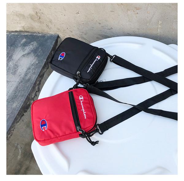 nuovo di zecca 7512a 0c3b6 Acquista Champion Borse Monospalla In Nylon Unisex Brand Fashion Mini Borsa  A Tracolla Monospalla Shopping A Tracolla Cintura Borse Da Viaggio B383 A  ...