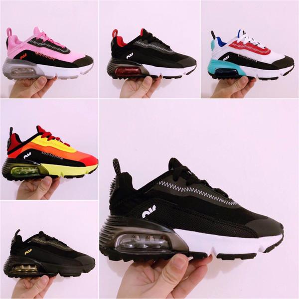 Nike Air Max Vapormax 2090 2020 Çocuk Günlük Ayakkabılar Presto ayakkabı Çocuk Spor Ortopedik Gençlik Çocuk Bebek Kız Erkek ayakkabılar 9 Renkler Boyutu 28-35 eğitici