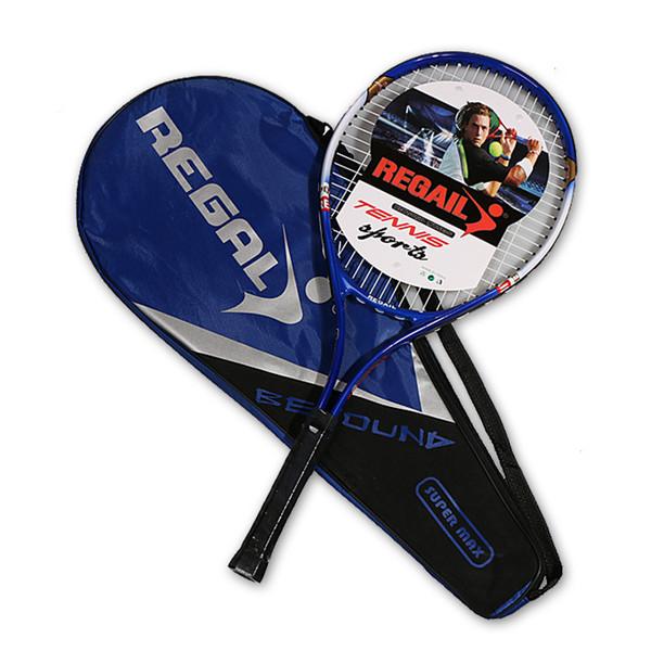 Racchette da collezione racchetta da tennis in lega di alluminio da 1pc 67x27cm con borsa presa da tennis taglia 4 1/4 per principianti