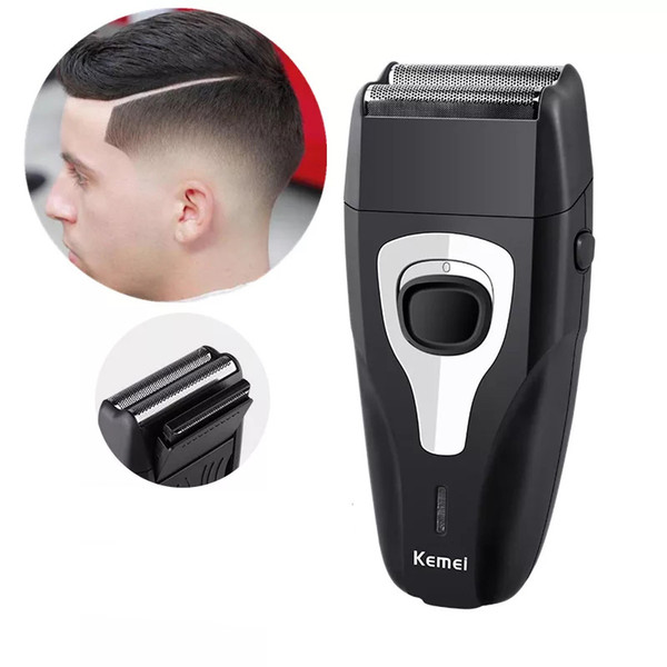 kemei rechargeable electric shaver for men twin blade reciprocating razor face care multifunction hair beard trimmer barber tool
