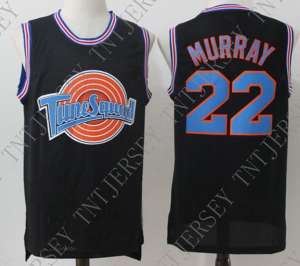 Cheap custom #22 MURRAY Space Jam Tune Squad Basketball Jersey Black Stitched Customize any name number MEN WOMEN YOUTH JERSEY XS-5XL