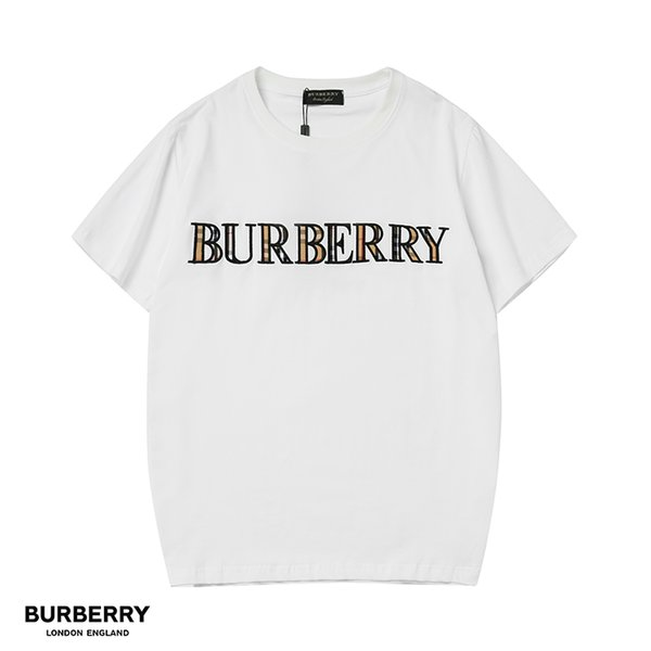 Designer Brand Mens T Shirts Embroidery Letter Colorful England Of London BUR T-Shirt Designer Women Clothes