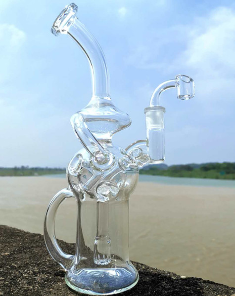 Six class design recycler bong oil burner oil rig water pipes glass recycler feb egg bong type glass hookahs