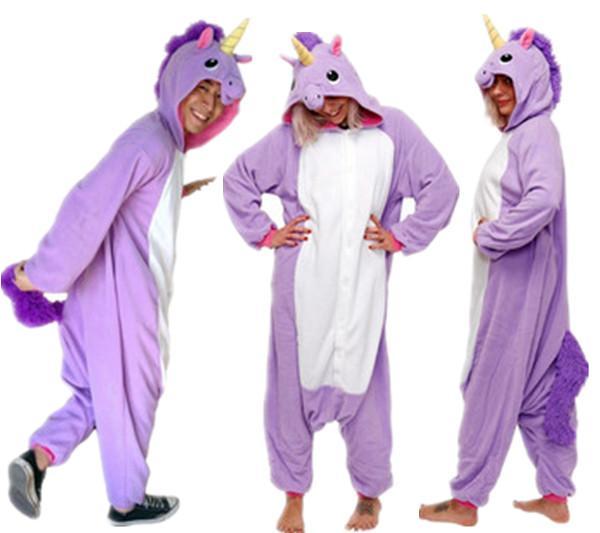 Adult Cartoon Purple Pajamas Anime Jumpsuit Polar Fleece Cosplay Costume Pyjamas Halloween Carnival Sleepsuit Loose Masquerade Outfit