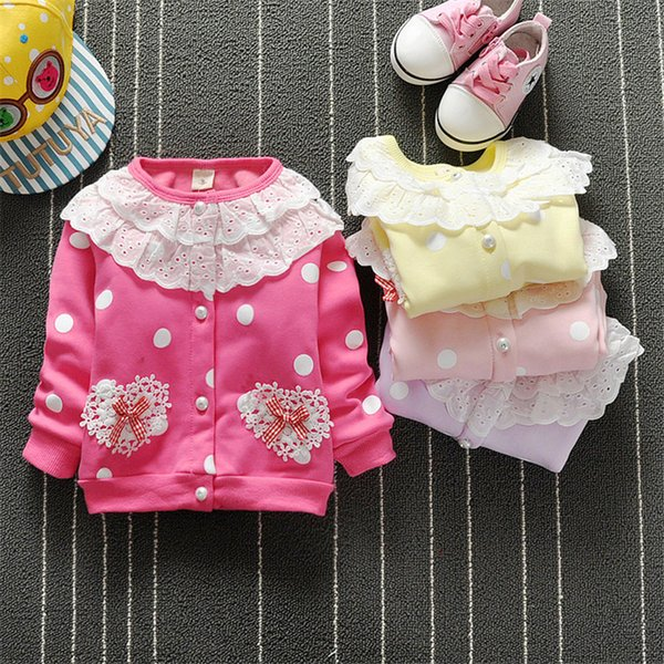 good quality 2019 girls jackets coats spring casual flower print kids baby cotton sweatershirt infant outwear children clother