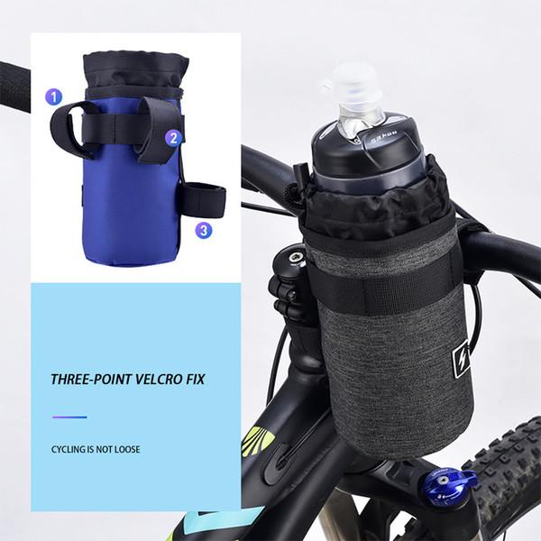 Vélo En Plein Air Porte-Bouteille Poche Route Vélo Vélo Isolé Bouilloire Cage Guidon Tige Sac Vélo Accessoires # YL10