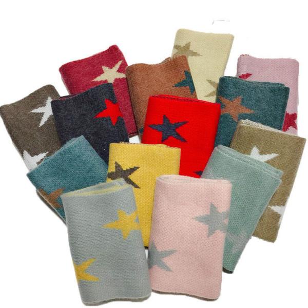 2019 nueva estrella de invierno bufanda de la manera de los niños para niños bufandas de la bufanda del bebé de chicas muchachos de la bufanda bufandas bufandas niños anillo niños al por mayor A9714