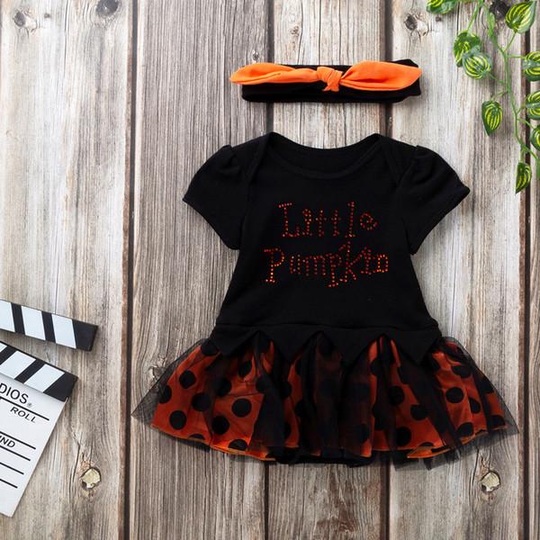 2019 Yeni Varış Bebek Set Bebek Yürüyor Bebek Kız Cadılar Bayramı Mektup Yay Parti Elbise Elbise Elbiseler Bez Bırak Gemi