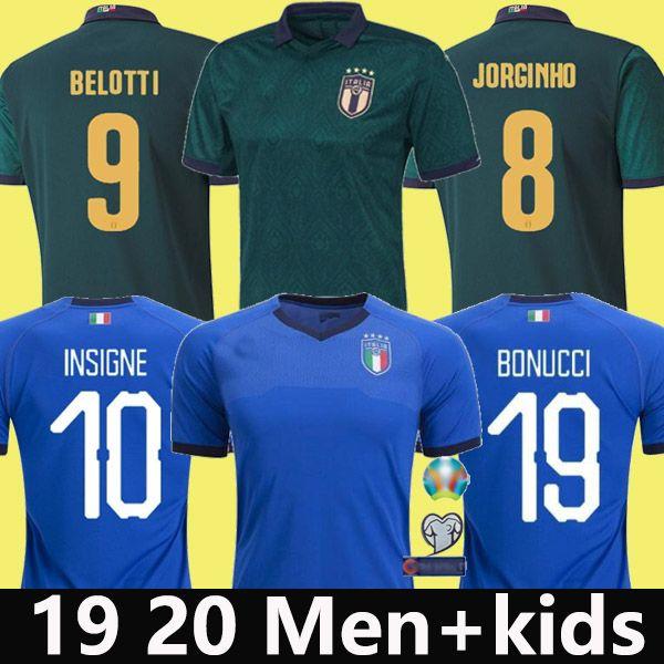 19 20 Italien Fußball Trikot 2019 2020 INSIGNE Renaissance CHIELLINI BONUCCI BERNARDESCHI BELOTTI SENSI BARELLA Fußball Trikot Herren + Kind