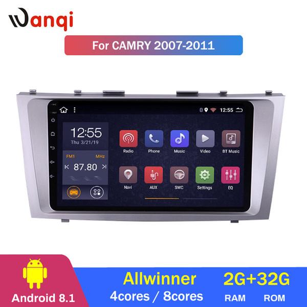 Rádio estéreo do jogador de DVD do automóvel do rádio da ROM de 2G RAM 32G auto 8,1 para a navegação de Toyota Camry 2007-2011 GPS