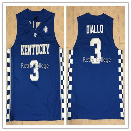2019 новый высокое качество 3 Hamidou Diallo Кентукки Wildcats College Mens Баскетбол Джерси Пользовательские любое имя и номер всех размеров