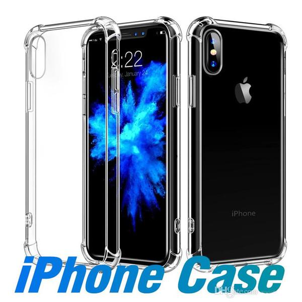 Pour iPhone 11 11R 11 MAX XS MAX XR 7 8 Case Clear TPU Absorption des chocs Doux Transparent Couverture Arrière Pour Samsung S10 Plus S10e S9