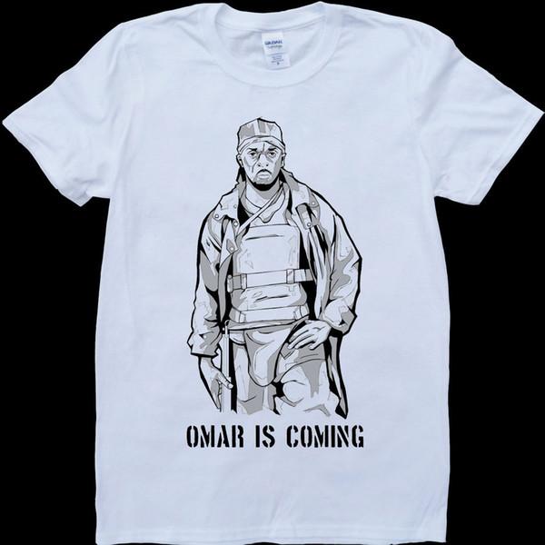 The Wire Omar is Coming, camiseta de moda unisex para mujer, hecha por encargo, envío gratis