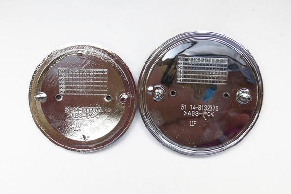 2pcs/lot 2-pin blue/white black/white car logo chrome front logo 82mm/73mm hood/garage series 1,3,5,6,7,X