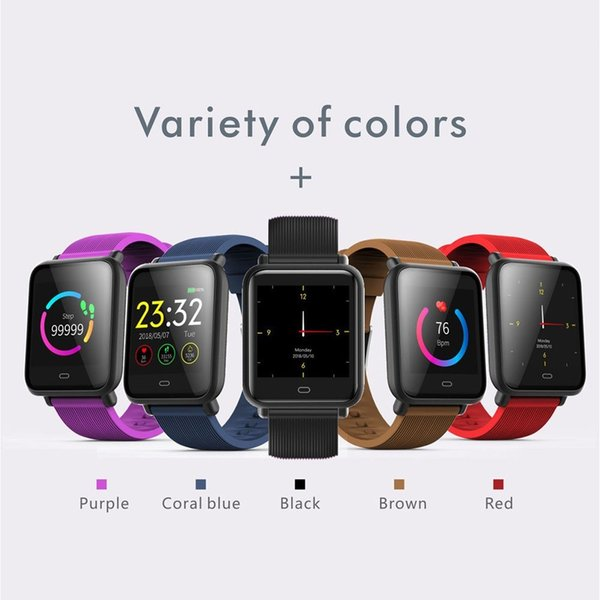 Men SmartWatch Sport Pedometer Heart Rate Blood Pressure Monitor Ftness Tracker Women Waterproof Smart Watches For IOS Android Phone