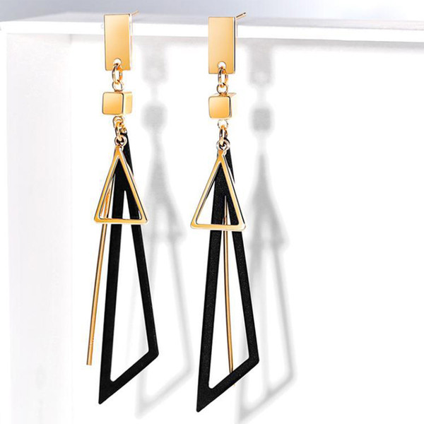 Top Quality New Geometric Long Clip Without Pierced Earrings For Girl Wedding Party Jewelry Accessories Best Christmas Bijoux Gift