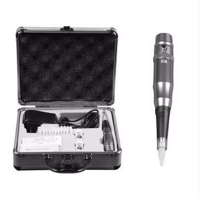 Elektrische Tattoo Maschine set Für Für Augenbrauen Lip Eyeliner Permanent Makeup Microblading Stift Tattoos mit Nadeln Aluminium Box