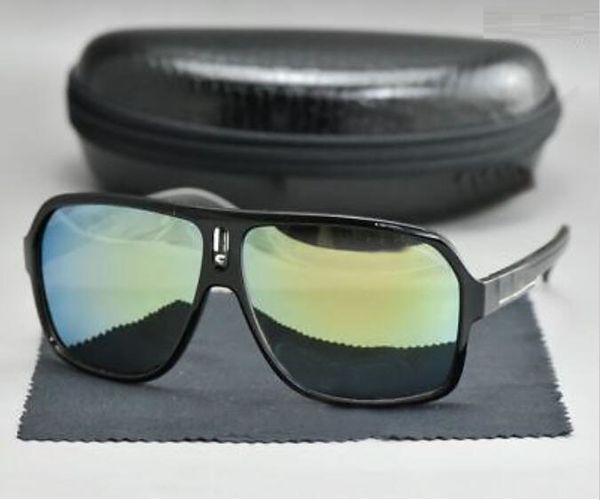 2019 New Designer fashion Anti-UV men sunglasses Women Retro outdoor Go fishing drive pilot Goggle Clear vintage glasses black gold and Box