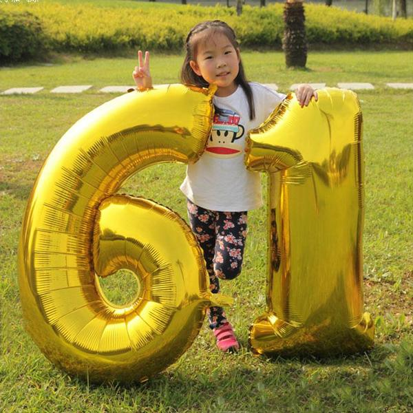 cheap price 40inch 0-9 Number balloons Toys for Wedding Birthday Christmas Balloon Party Decoration Aluminium Foil Number Balloons