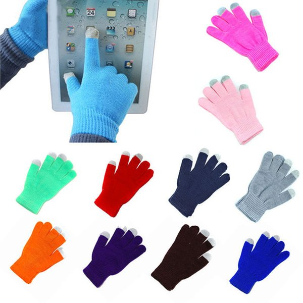 Guanti touch screen di alta qualità uomo donna inverno guanti caldi inverno femminile dito pieno tratto confortevole traspirante guanto caldo BH776 TQQ