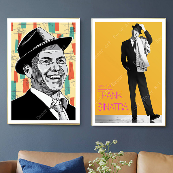Pop Art Frank Sinatra Music Singer Canvas Paintings Vintage Wall Kraft Posters Coated Wall Stickers Home Decor Pictures Gift