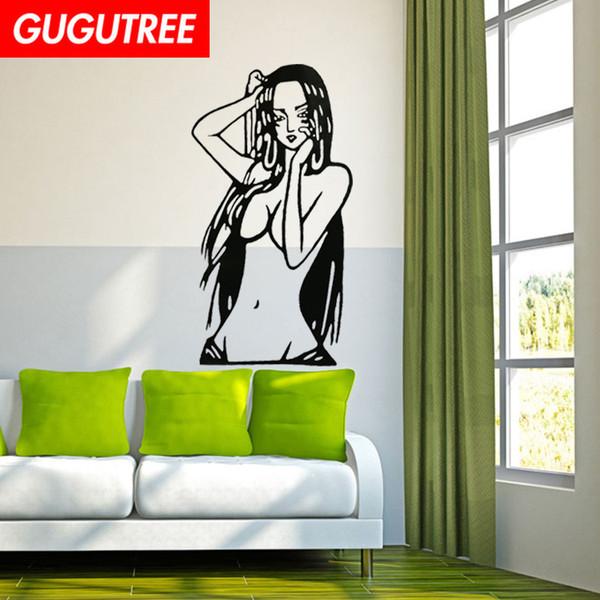 Украсьте Дом девушка красавица мультфильм искусство стикер стены украшения Наклейки фреска Съемный Декор Обои G-2173