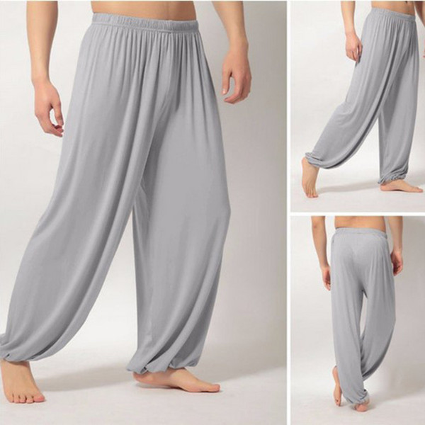 2019 Yoga Pants Loose Men High Waist Tai Chi Pants Summer Loose Yoga Trousers Baggy Boho Aladdin Jumpsuit Harem GYM mujer