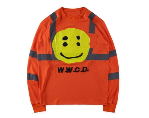 CPFM W.W.C.D. Mens Long Sleeved Tops Smile Printed ASAP Spring Autumn T shirts Tees