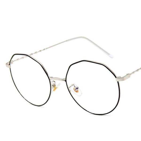 Fashion Women Sunglasses brand design Irregular Frame Wrap Sunglasses Metal Frame Threaded Temple Eyewear UV400