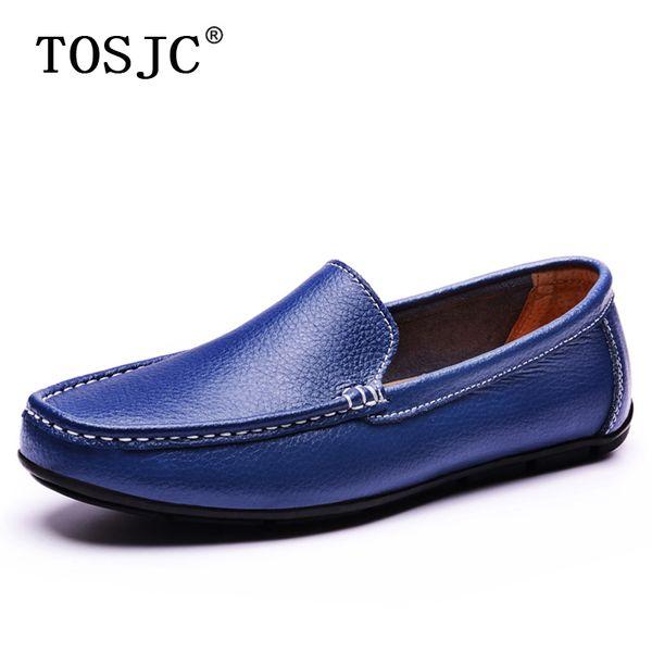 Mocasines casuales de verano para hombre TOSJC Zapatos sin cordones transpirables para hombre Comfortale Pisos livianos Mocasines Zapatos de conducción suaves