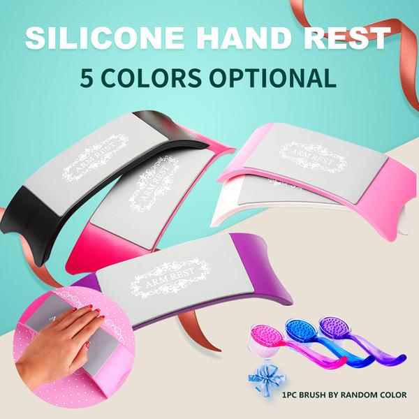 1 unids Silicona Reposamanos Uñas Almohada Cojín Manicura / Reposamanos Almohada / Soporte de manos para Manicura Uñas Almohada / Brazo de uñas de plástico