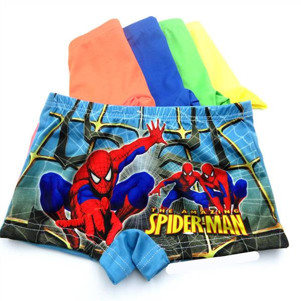 top popular hot sale spider-man Children Underwear Cartoon Boy Boxer Briefs Children Underwear boys boxer shorts kids designer clothes boys briefs A6790 2019
