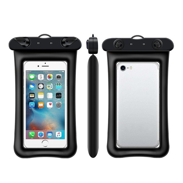 Most Fire Floating Waterproof Bag For iPhone X Samsung S10 Cell Phone Waterproof Dry Bag Up to 6.0 Inch Diagonal With Lanyard