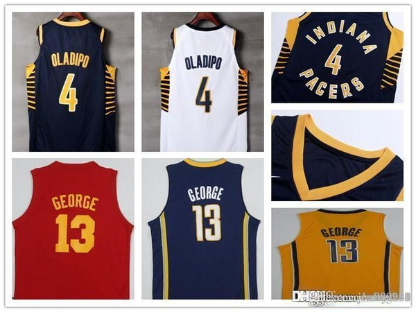 newest be600 c4074 2019 2018 New IND Season Authentic Indiana Basketball Jersey Men Jerseys 4  Victor Oladipo 44 Bojan Bogdanovic 2 Darren Collison Pacers Jerseys From ...