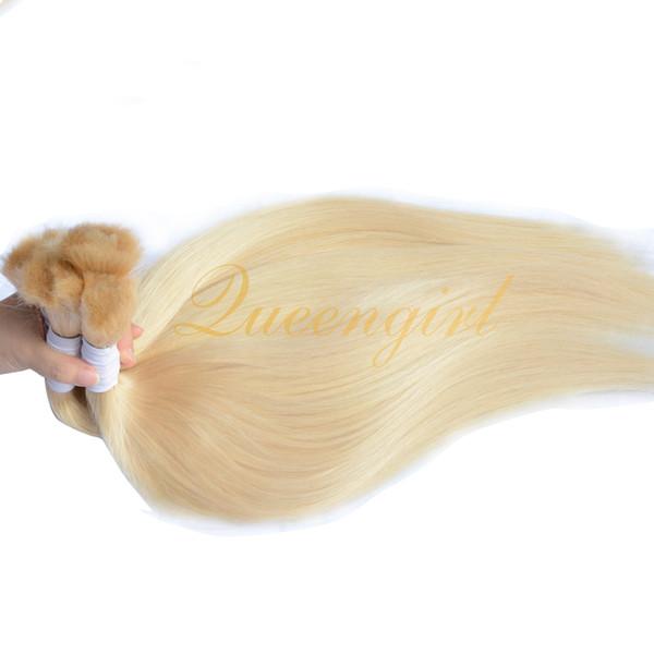 Brazilian Peruvian Indian Malaysian blonde human hair bulk 3/4/5 bundles natural straight European Russian braiding human hair extension 613