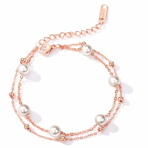 Stainless Steel Charm Female Bracelets For Women Imitation Pearl Classic Simple Fashion Jewelry Friendship Gift O921