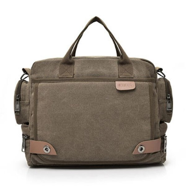 New Leather Briefcases Men Laptop Briefcase Men's Canvas Messenger Shoulder Bag Crossbody Sling Briefcase Bags Satchela0605#30 Y190627