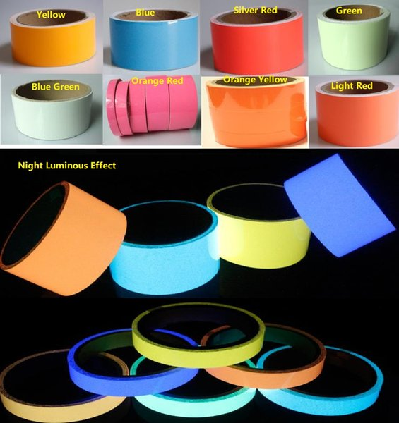 best selling 10M*10mm Luminous Tape Self-adhesive Warning Strip Night Vision Glowing In Dark Safety Security Home Decoration Tapes