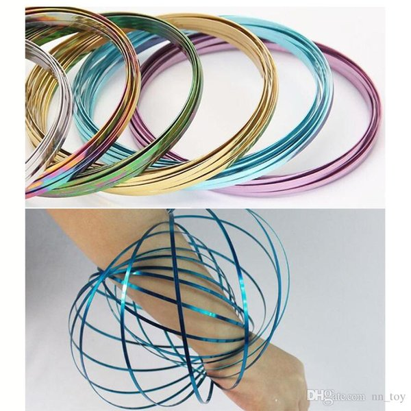 Colorful ToroFlux Spring Metal Flowtoys Flow Ring Kinetic Geoflux Fun Gift US