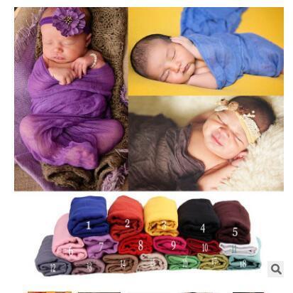 Neugeborene Fotografie Wraps Swaddle Baby Infant Foto Requisiten Decke 10 Farben Bebe Elastische Gaze Wraps 170 * 110 cm Geschenke Freies Verschiffen