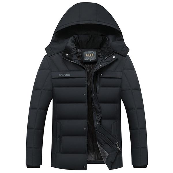Drop Shipping Yeni Kış Ceket Erkekler-20 Derece Kalınlaşmak Sıcak Erkekler Parkas Kapşonlu Coat Polar adamın Ceketler Dış Giyim Puls boyutu 4xl