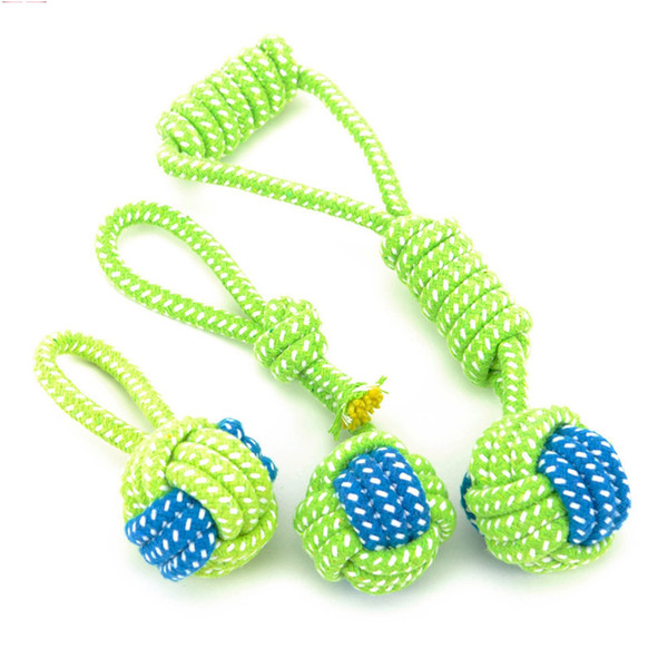 Animal Transfer Dog Toy Chewing Cleaning Teeth Outdoor Training Funny Green Rope Toy Ball Pet Supplies