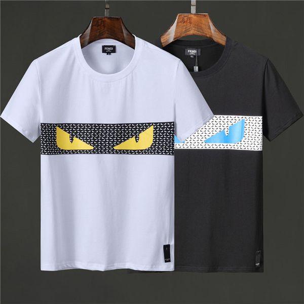 Sommer Männer Baumwolle T-Shirts Mode Brief Kurzarm # 3575 Streetwear männer Oansatz T-shirts T-stücke Hohe Qualität Männlichen Casual Tops