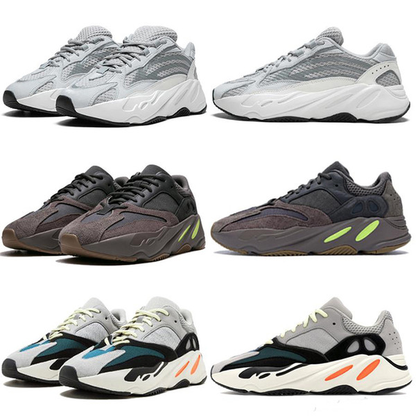top popular 700 v2 Wave Runner Reflective Running shoes Kanye Carbon inertia tephra Men Women Sneakers Solid Gey Analog Teal Shoes Trainer Eur 36-45 2021