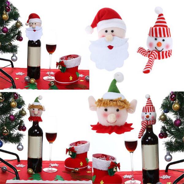 Bottiglia Vino Bag di Buon Natale del partito di Santa Tabella decorazione di Natale Ornamenti di Natale copertura della bottiglia Cap festa di Natale regalo