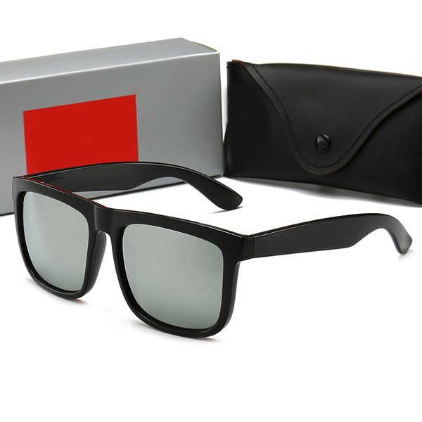 Marca de Moda dos homens Óculos De Sol De Verão Adumbral Moldura Completa de Vidro Polarizada Óculos De Sol para Homens Mulheres De Vidro UV400 com Caixa de 6 Cores